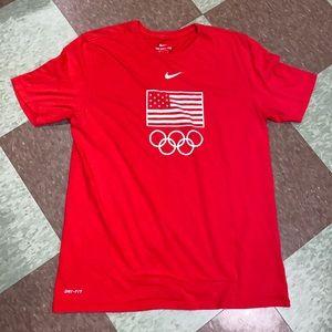 Nike Olympic red T-shirt men's lg